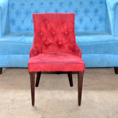 Кресла б/у ткань красные
