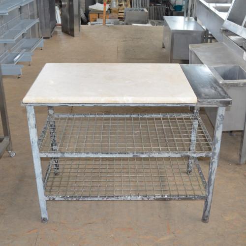 Стол для раскатки теста б/у с каменной столешницей