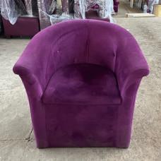 Кресла б/у фиолетовый велюр
