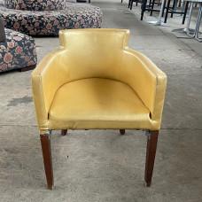 Кресла б/у кожзам золото