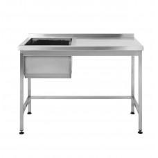 Стол производственный с мойкой Restoraninvest 1200x600x850