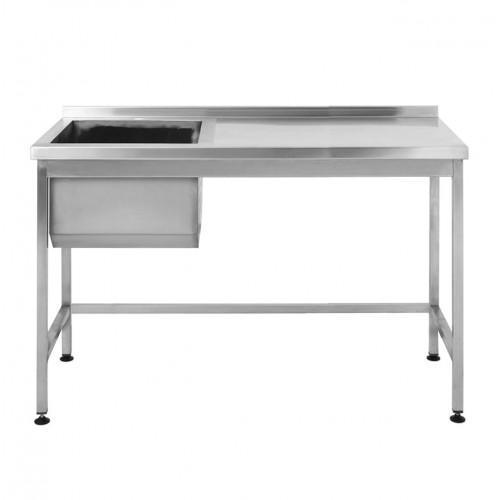 Стол производственный с мойкой Restoraninvest 1400x600x850