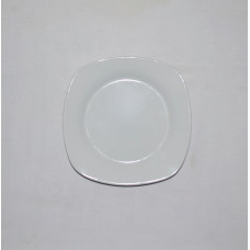 Тарелка б/у фарфоровая квадратна №1